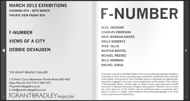F-Number at The Grant Bradley Gallery